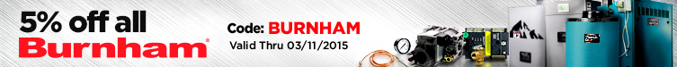 5% off all Burnham Products!