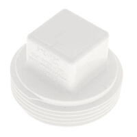 PVC DWV Cleanout Plugs