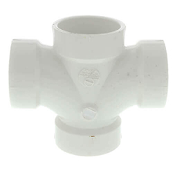 PVC DWV Double Sanitary Tees (All Hub)