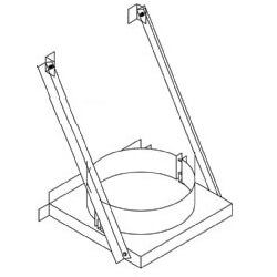 Z-Vent Double Wall Base Supports