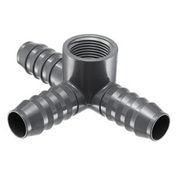 PVC Barbed Insert Side Outlet Tee (Insert x FIPT)