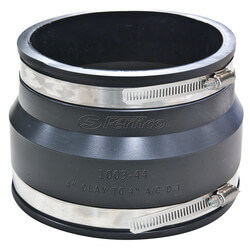Clay to Asbestos/Ductile Iron Couplings