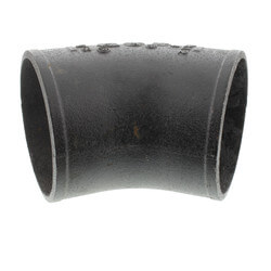 "4"" Imported No Hub Cast Iron 45° Elbow Product Image"