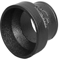 "4"" x 2"" Imported No Hub Cast Iron Short Pipe Reducer Product Image"