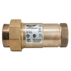 """LF07S LF 1"""" Residential Fire Sprinkler Dual Check Backflow Preventer, LF Product Image"""