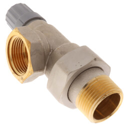 "1"" Side Mount Angle Thermostatic Radiator Valve Product Image"