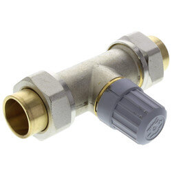 "3/4"" Straight Thermostatic Radiator Valve, Double Solder Union"