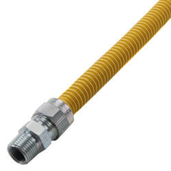 "1/2"" ID Coated Stainless Steel Gas Connector <br>1/2"" MIP (36"" Length) Product Image"