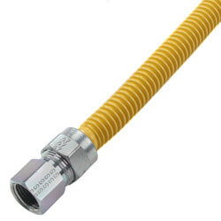 "1/2"" ID Coated Stainless Steel Gas Connector <br>1/2"" MIP x FIP (36"" Length) Product Image"