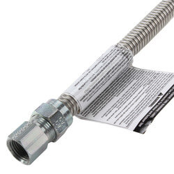 "1/2"" ID Stainless Steel Gas Connector 1/2"" MIP x FIP (72"" Length) Product Image"