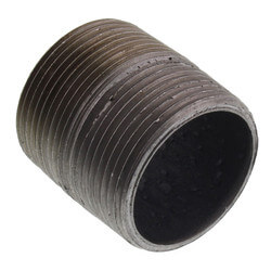 "1-1/4"" x Close Black Nipple Product Image"