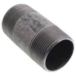 """1-1/4"""" x 3"""" Black Nipple Product Image"""
