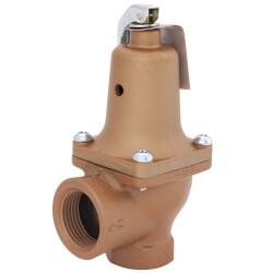 "3/4"" x 1"" Series 740 Boiler Pressure Relief Valve (75 psi) Product Image"