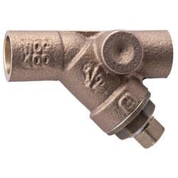 "3/4"" Bronze Wye Strainer w/ Tapped Retainer Cap"