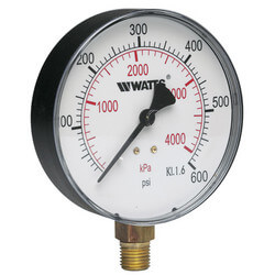 "1/4"" DPG-1 Bottom Entry Pressure Gauge w/ 4"" Dial (0-300 PSI)"