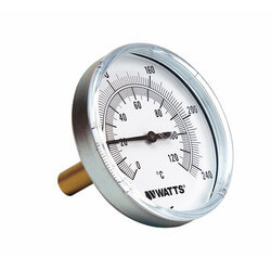 "TB Center Back-Entry Bimetal Thermometers (2-1/2"" Dial)"