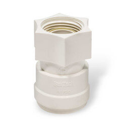 "Polysulfone Quick-Connect Female Connector, 3/4"" CTS x 3/4"" NPS"