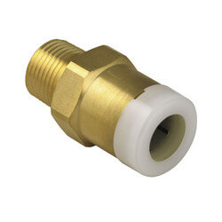 "Quick-Connect Male Connector, 1"" CTS x 3/4"" MPT"