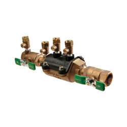 """1"""" Wilkins 350XLFT Double Check Valve Assembly w/ Test Cocks (Lead Free) Product Image"""
