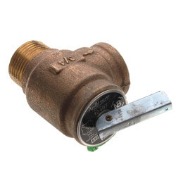 "3/4"" Hot Water Relief Valve, 30 PSIG (Brass Finish) Product Image"