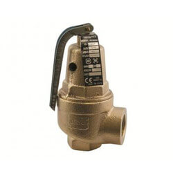 "3/4"" x 1"" Hot Water High Capacity Pressure Relief Valve, 125 psi Product Image"
