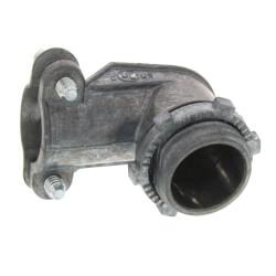 """3/8"""" Zinc BX-Flex 90° Squeeze Connector Product Image"""