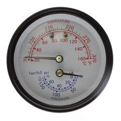 Water Temp./Pressure Gauge For Burnham Boilers Product Image