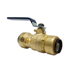 "1/2"" Tectite Ball Valve with Drain/Vent (Lead Free) Product Image"