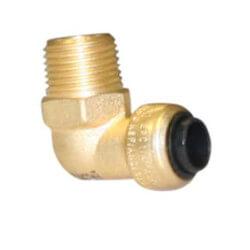 "1/4"" Tectite x 3/8"" MNPT 90° Elbow (Lead Free) Product Image"
