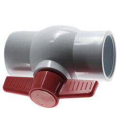 """2"""" White PVC Ball Valve w/ T-Handle (Threaded) Product Image"""