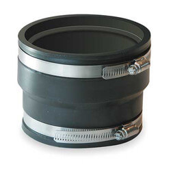"""3"""" Corrugated Pipe Flexible Coupling (ADS, Hancor to PVC) Product Image"""