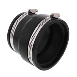"""4"""" Corrugated Pipe Flexible Coupling (ADS, Hancor to PVC) Product Image"""