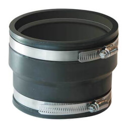 """6"""" x 6"""" Flexible Coupling (For A.D.S & Hancor Corrugated Pipe) Product Image"""