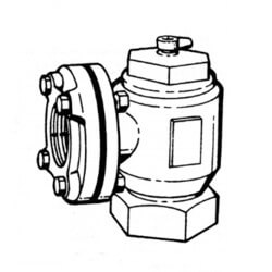 "2-1/2"" Threaded Angle Flow Control Product Image"
