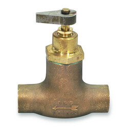 "3/4"" Sweat Bronze Straight Flow Control"