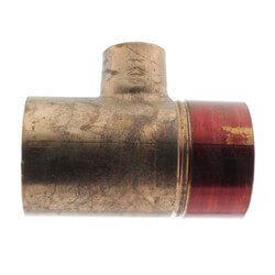 """1-1/2"""" x 3/4"""" Copper Red Ring Monoflo Tee Product Image"""