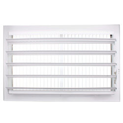 "10"" x 6"" White Sidewall/Ceiling Register (661 Series) Product Image"