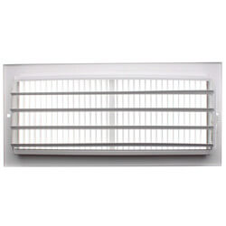 "12"" x 5"" White Sidewall/Ceiling Register (661 Series) Product Image"