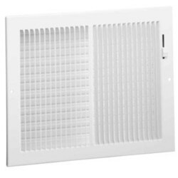 "12"" x 8"" White Sidewall/Ceiling Register (661 Series)"