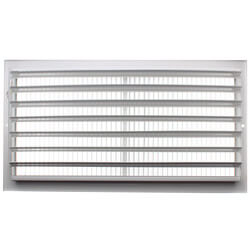 "16"" x 8"" White Sidewall/Ceiling Register (661 Series)"