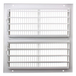 "10"" x 10"" White Sidewall/Ceiling Register (661 Series)"