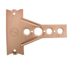 "1/2"", 3/4"" Copper Bracket for Toilet (6-1/2"" Height) Product Image"