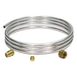 "1/4"" x 5' Pilot Burner Tubing w/ Fittings"