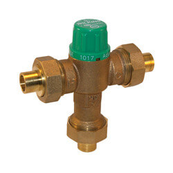 "1/2"" Thermostatic Mixing Valve 95 to 131°F (Union Sweat) Lead Free"