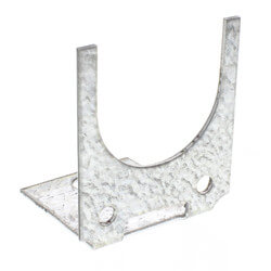 "1/2"", 3/4"", 1"" Galvanized Steel U-Shaped Bracket"