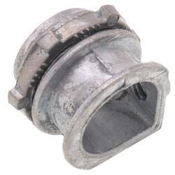 """3/8"""" Zinc BX-Flex Straight Set Squeeze Connector Product Image"""