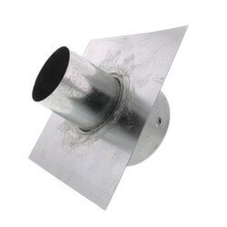 """3"""" Galvanized Roof Cap w/ Screen & Flange (No Damper) Product Image"""