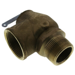 "1-1/4"" x 1-1/2"" 1,200,000 BTU Capacity, Low Press Steam Safety Valve, 15 psi Product Image"
