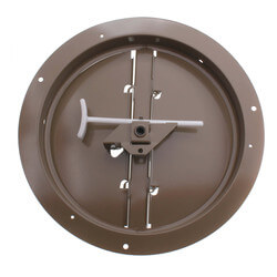 "6"" Steel Butterfly Damper with Ring Product Image"