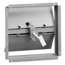 "Series 22 6"" Steel Butterfly Damper Product Image"